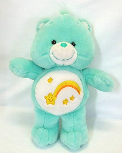 The teal Wish Care Bear