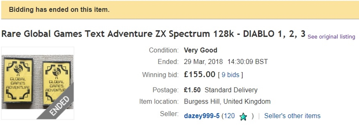 1EBAY 10 ZX Spectrum Games That Sell For Big Money On Ebay