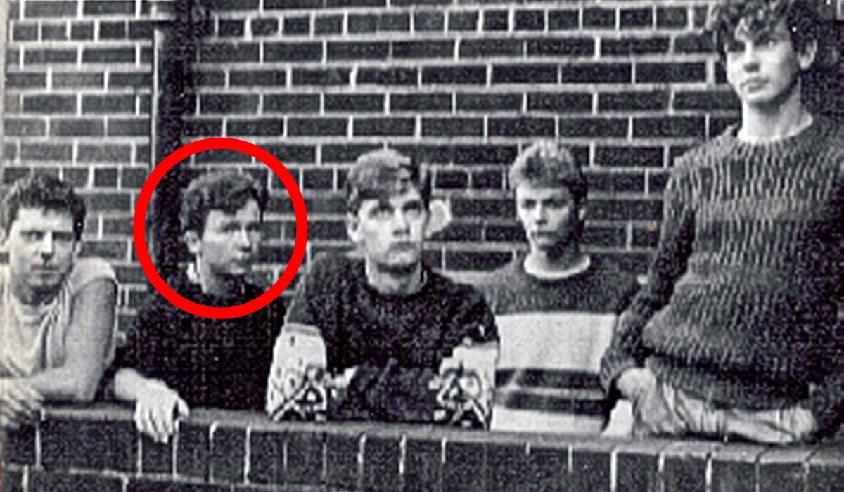 Astley as a young drummer