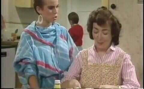 Rita Briggs and Mam