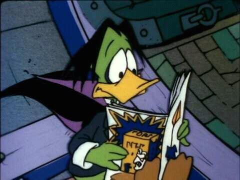 Count Duckula in his cartoon series