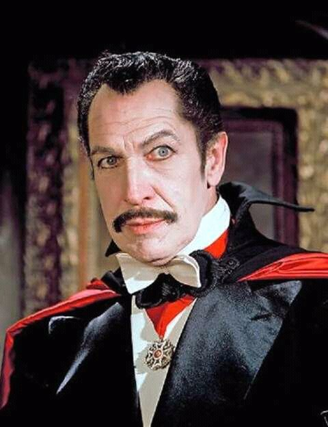 Vincent Price as Count Dracula
