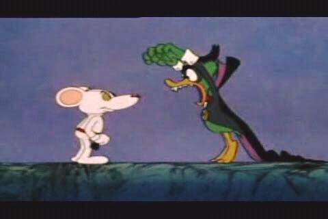 Danger Mouse and Count Duckula facing off