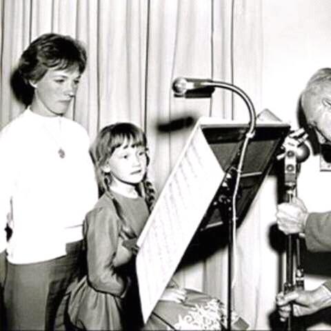 Karen Dotrice with Julie Andrews