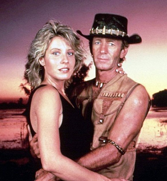 Hogan and his second wife Kozlowski in character as Mick and Sue