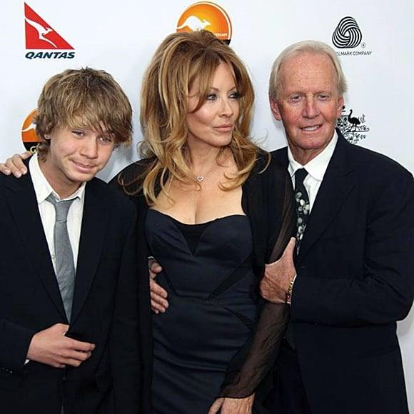Kozlowski and Hogan with their son Chance