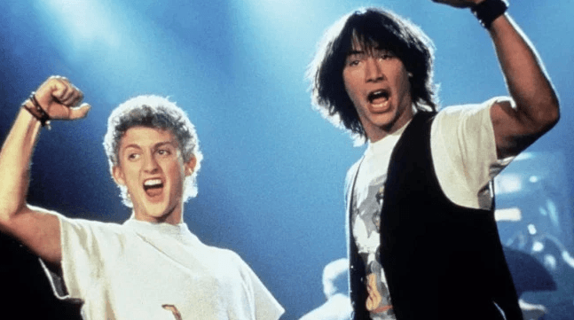 Another scene from Bill and Ted