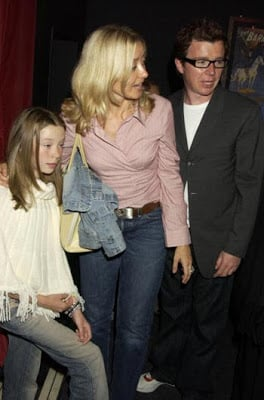 Astley with his wife and daughter out on the town