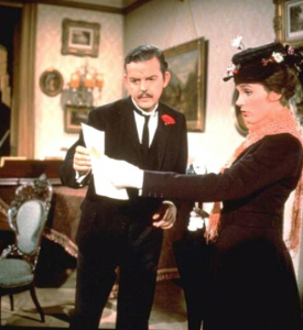 David Tomlinson as George Banks in Mary Poppins