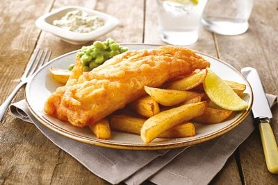 Stock photo of fish and chips