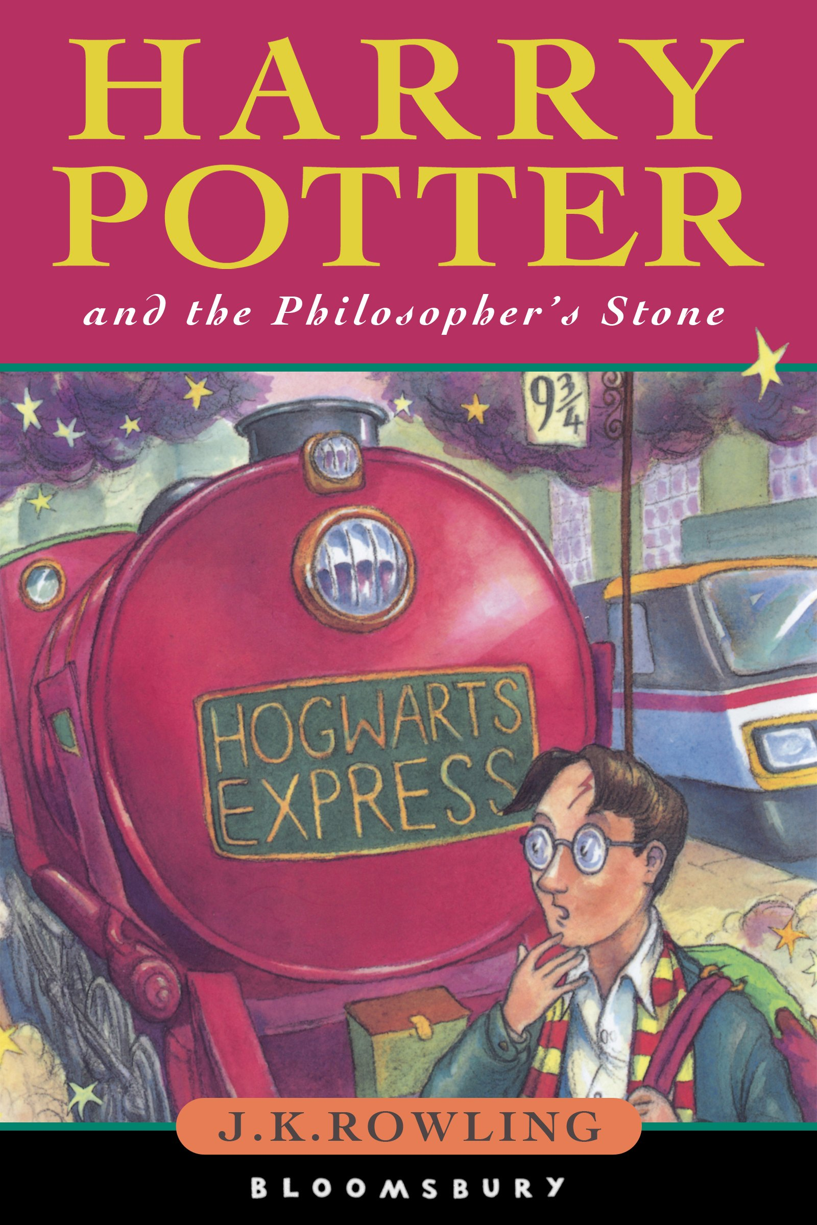 Harry Potter and the Philosopher's Stone book by JK Rowling