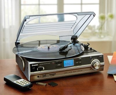 Stock photo of a record player