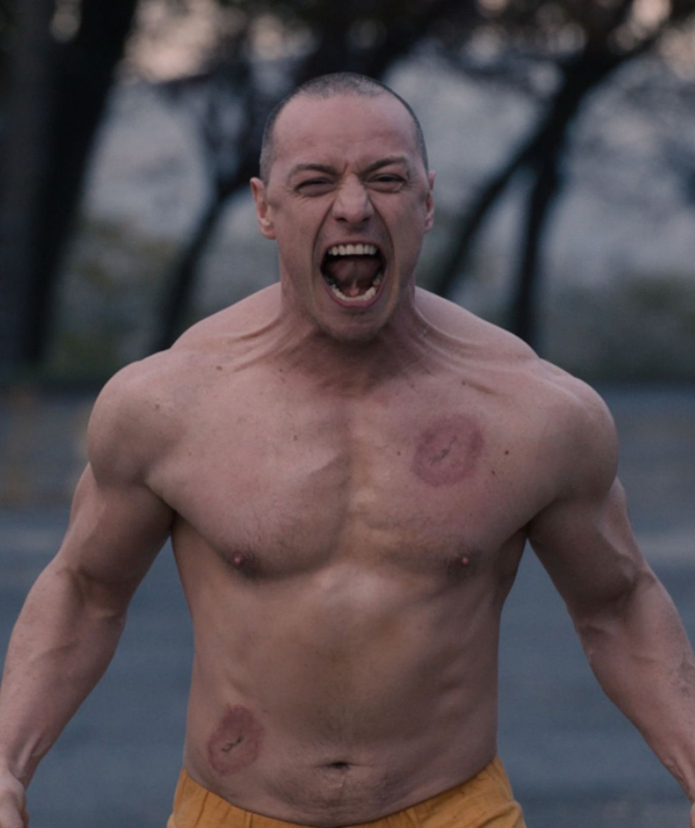 James McAvoy as Kevin Wendell Crumb in Glass