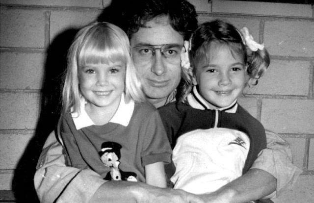 Steven Spielberg with Heather O'Rourke and Drew Barrymore 1981