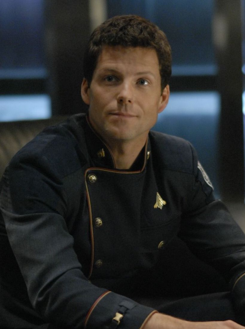 Jamie Bamber as Lee Adama in Battlestar Galactica