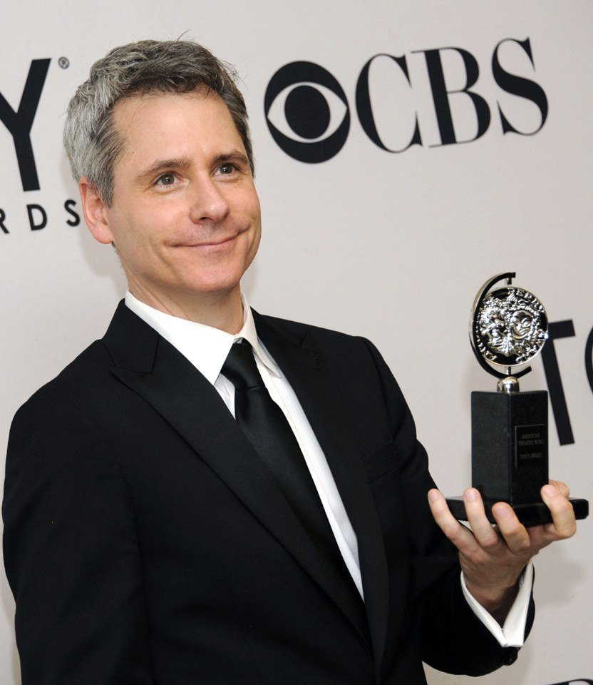 Bruce Norris with his Tony Award for Clybourne Park