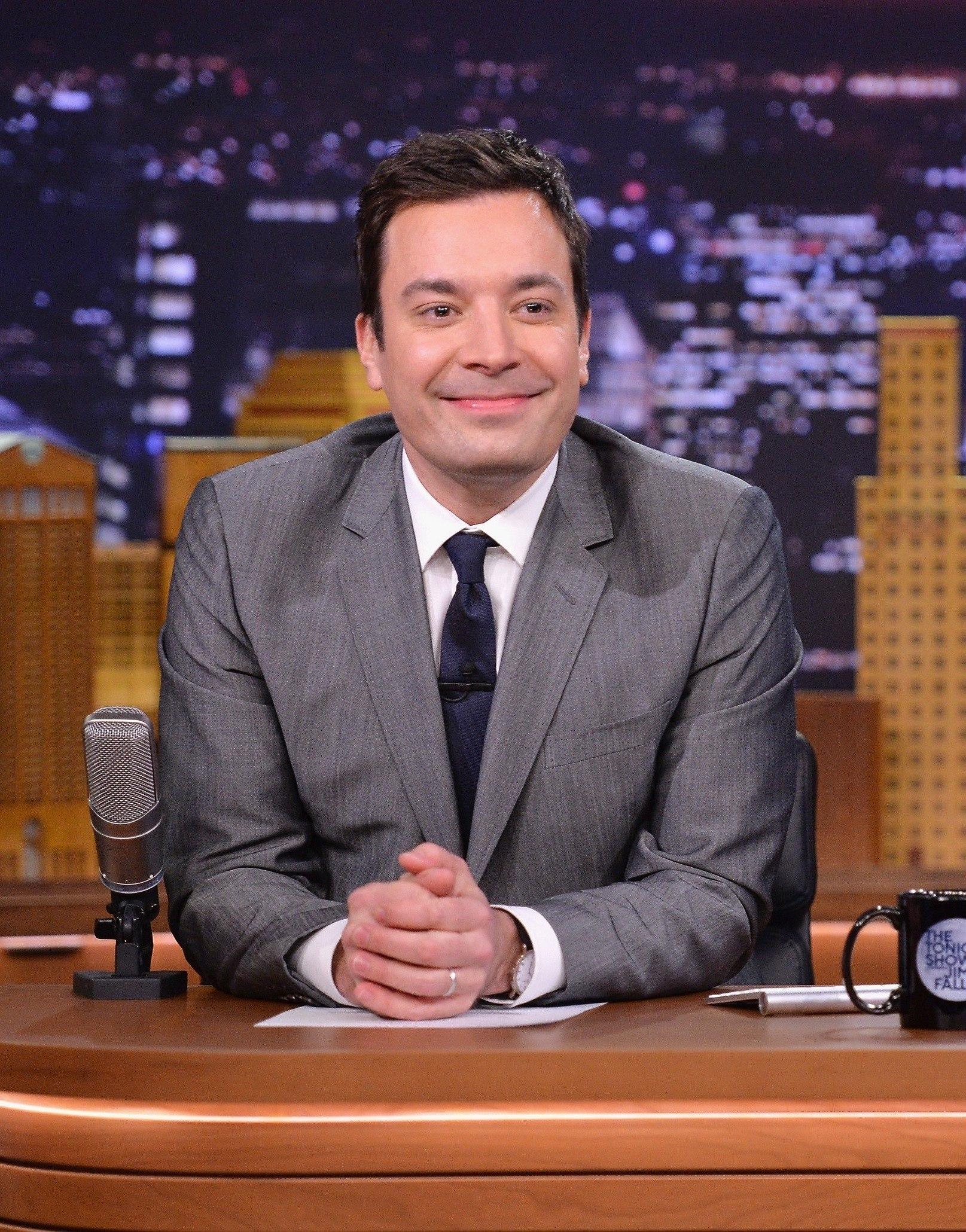 Jimmy Fallon hosting The Tonight Show