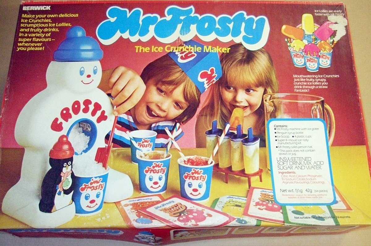 MR FROSTY 1 8 Food Based Toys That Will Remind You Of Being A Kid