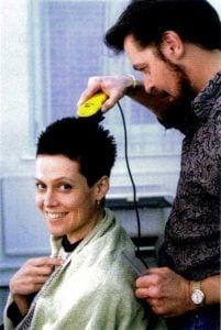 Rare Celebrity Photos 46 Sigourney Weaver shaving her head for Alien 3 20 Rare Celebrity Photos You've Never Seen