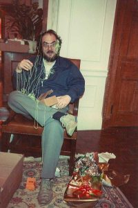 Rare Celebrity Photos 55 Stanley Kubrick covered in silly string by his daughter on Christmas 1983 20 Rare Celebrity Photos You've Never Seen