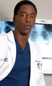 Isiah Washington as Dr. Burke in Grey's Anatomy