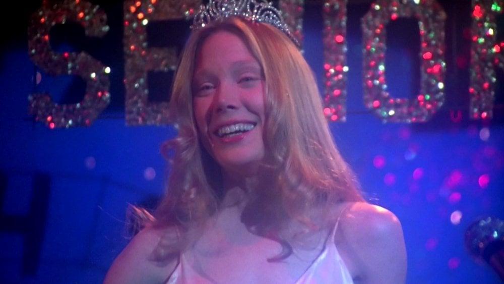 Sissy Spacek as Carrie, prom queen, 1976