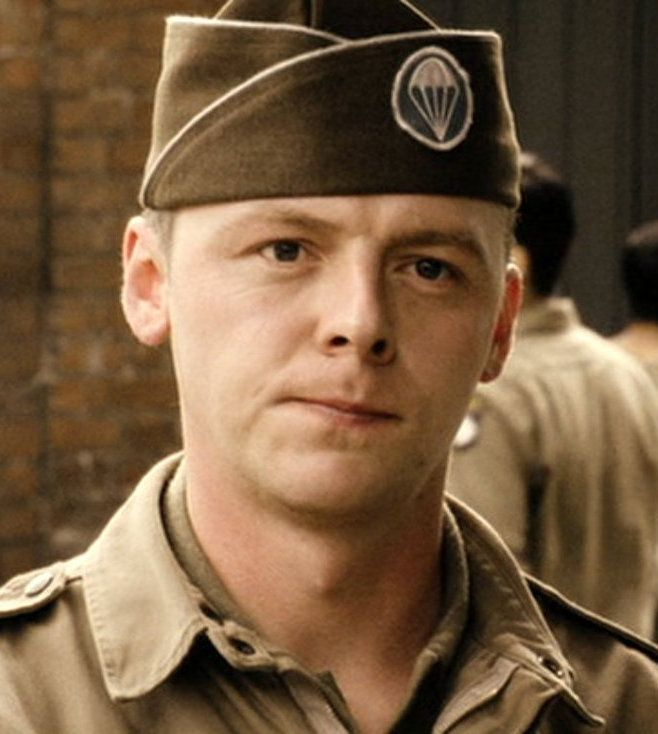 Simon Pegg as Evans in Band of Brothers