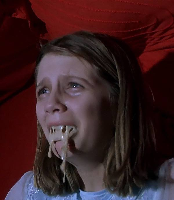 Mischa Barton as vomiting ghost Kyra Collins in The Sixth Sense