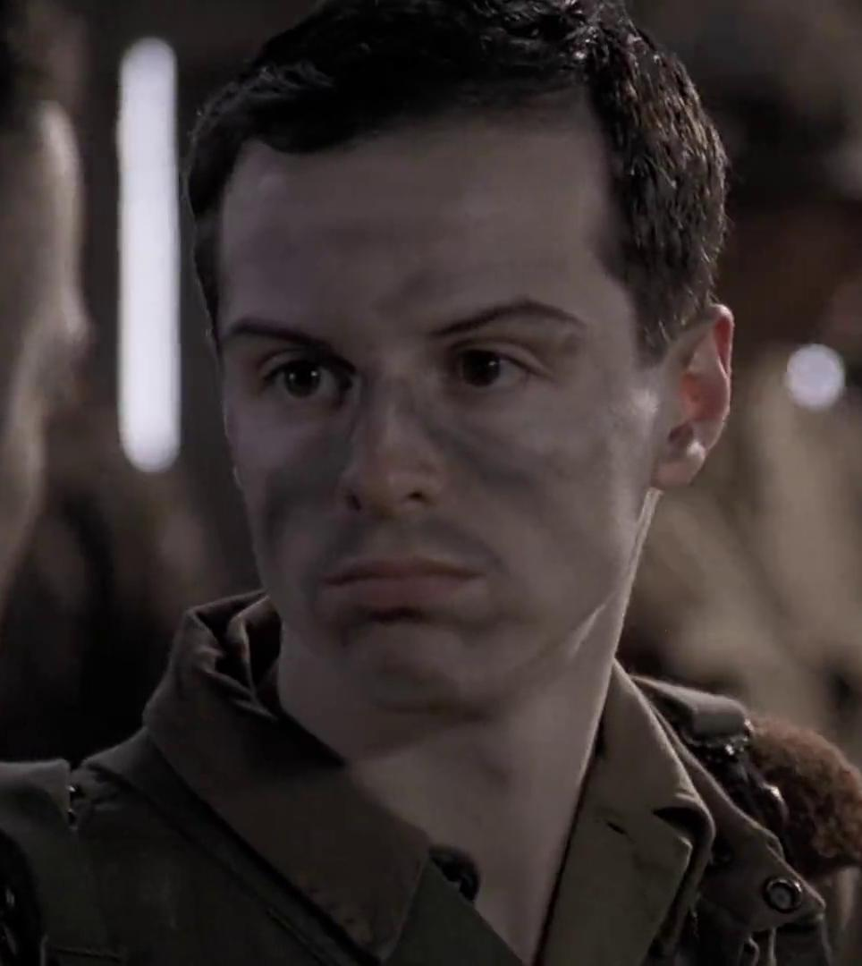 Andrew Scott as 'Cowboy' Hall in Band of Brothers