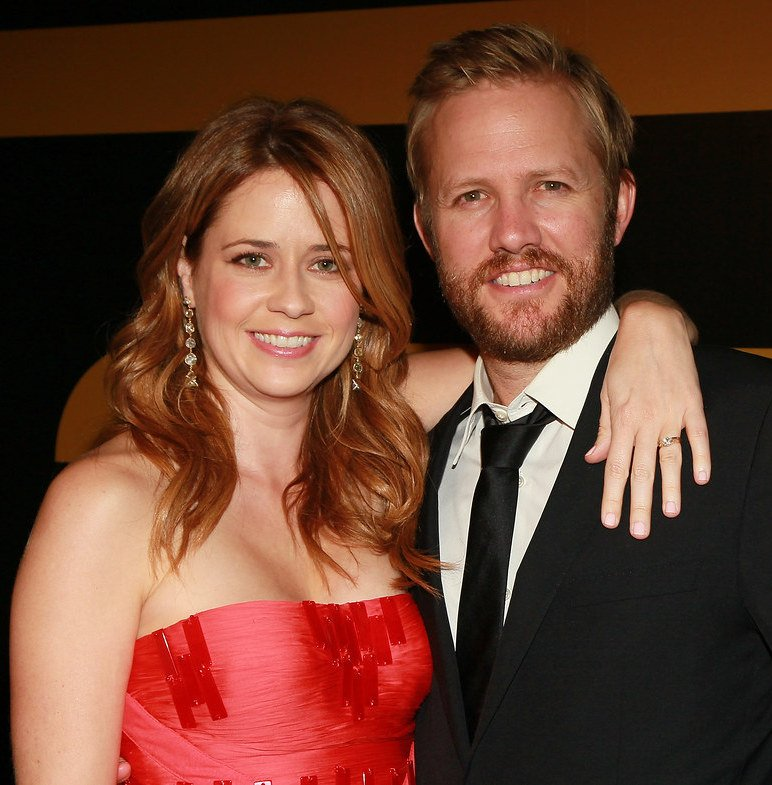 Jenna Fischer and husband Lee Kirk at the 62nd Emmy Awards, 2010