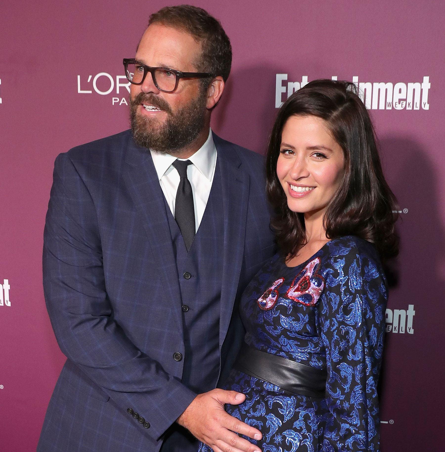 David Denman with pregnant wife Mercedes Mason, 2017