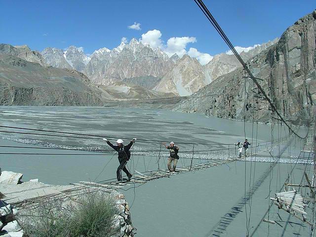Hussaini Hanging Bridge.6 10 Of The World's Most Dangerous Bridges