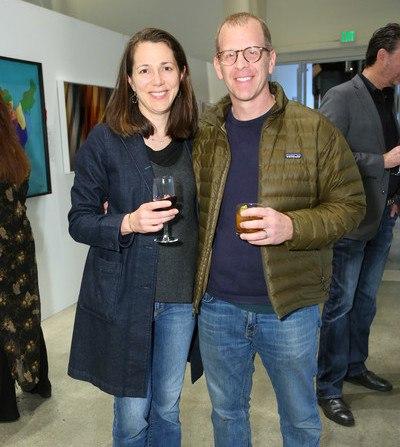 Paul Lieberstein and wife Janine Poreba at Google Los Angeles, 2019