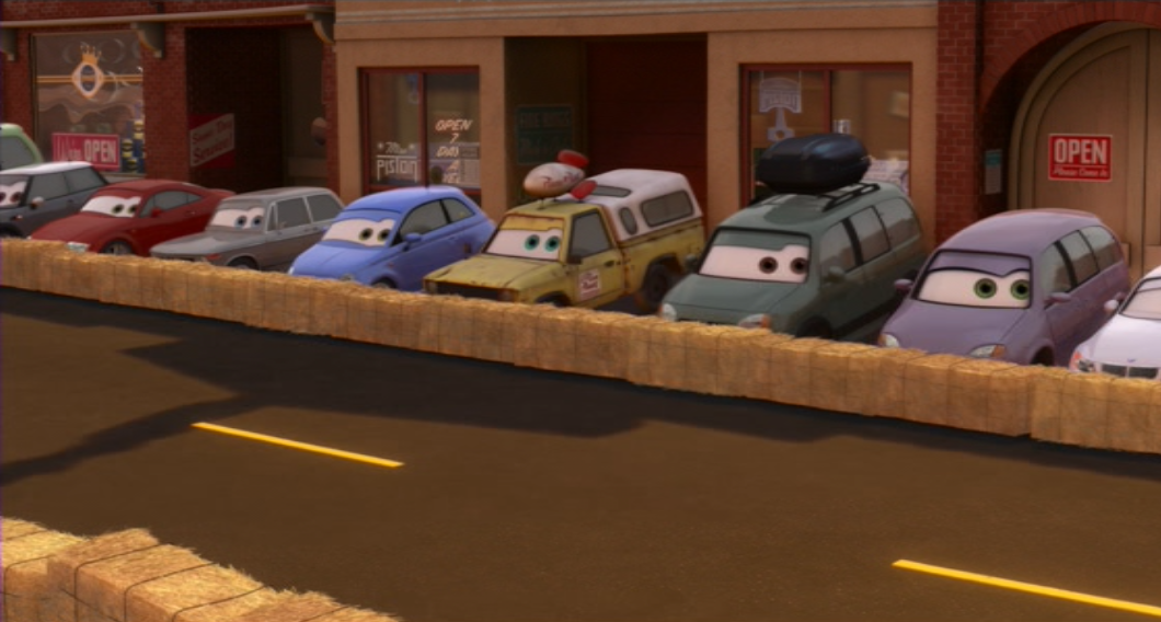 Todds second cameo in Cars 2 21 Of The Cheekiest Easter Eggs You Missed In Pixar Movies