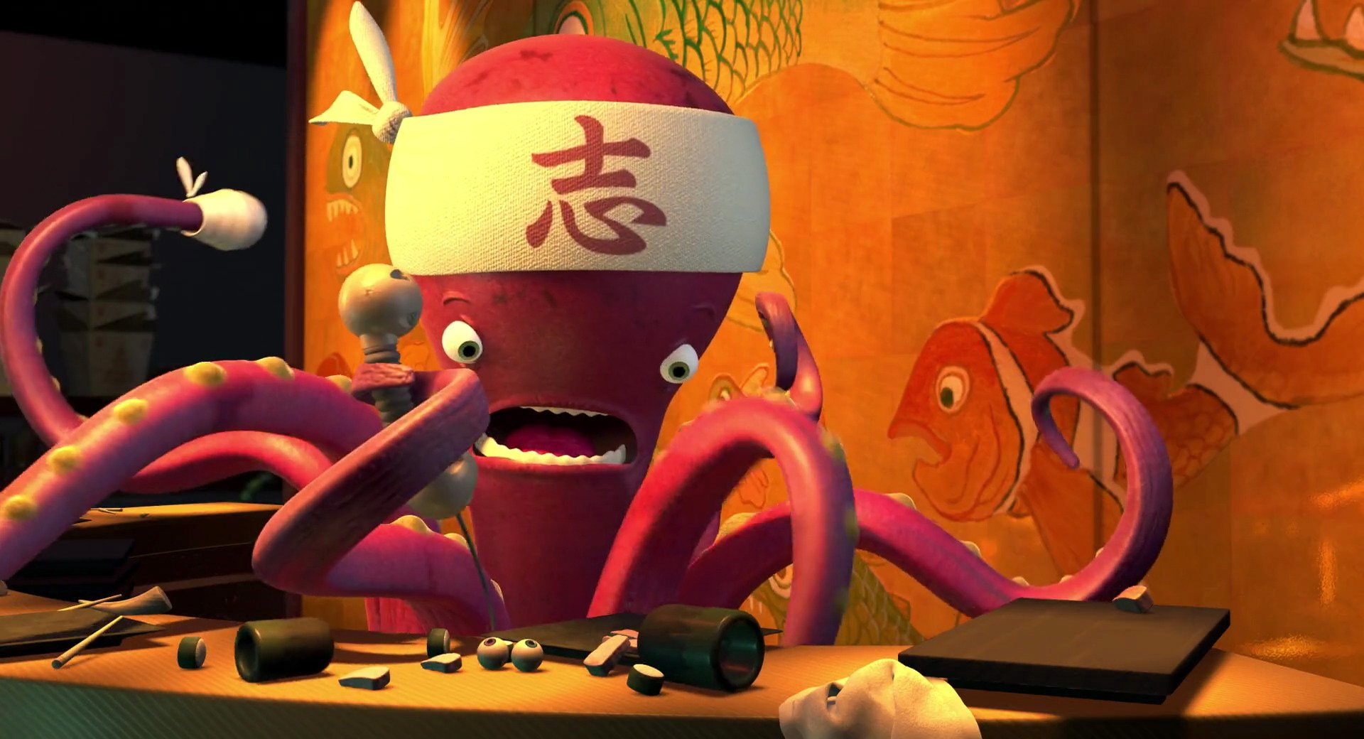 chef sushi personnage monstres cie 02 21 Of The Cheekiest Easter Eggs You Missed In Pixar Movies