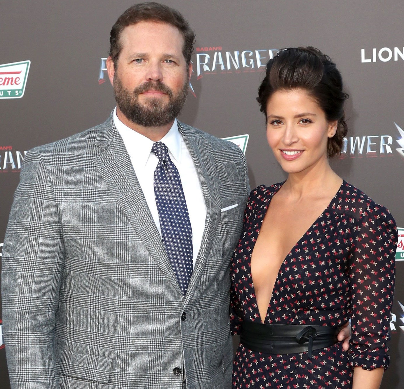 David Denman with wife Mercedes Mason at the Power Rangers movie premiere, 2017