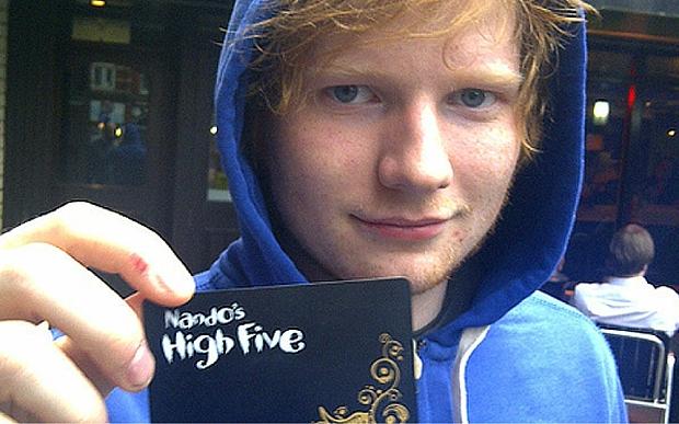 ed sheeran black c 3444380b 10 Things You Never Knew About Nando's
