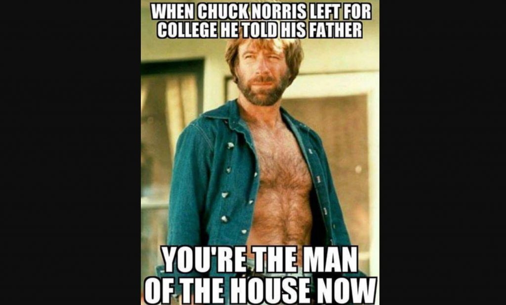 man of house 14 Of The Best Chuck Norris Memes To Make You Smile - Which Is Your Favourite?