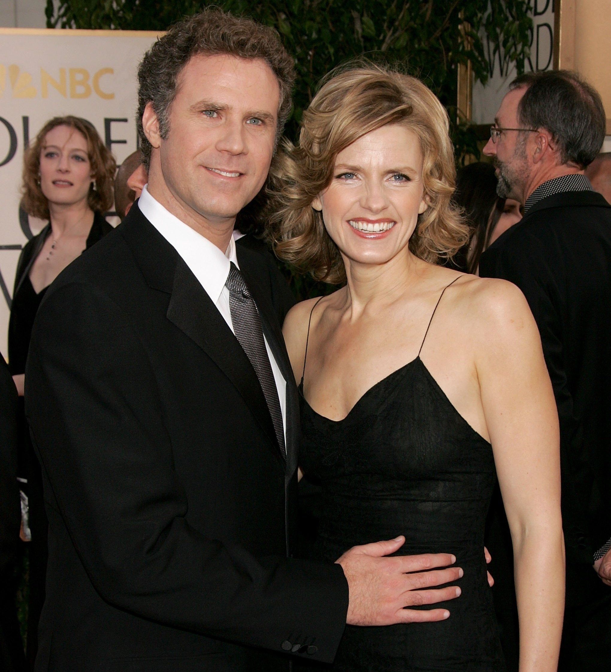 Will Ferrell and wife Viveca Paulin at the 63rd Golden Globe Awards, 2006