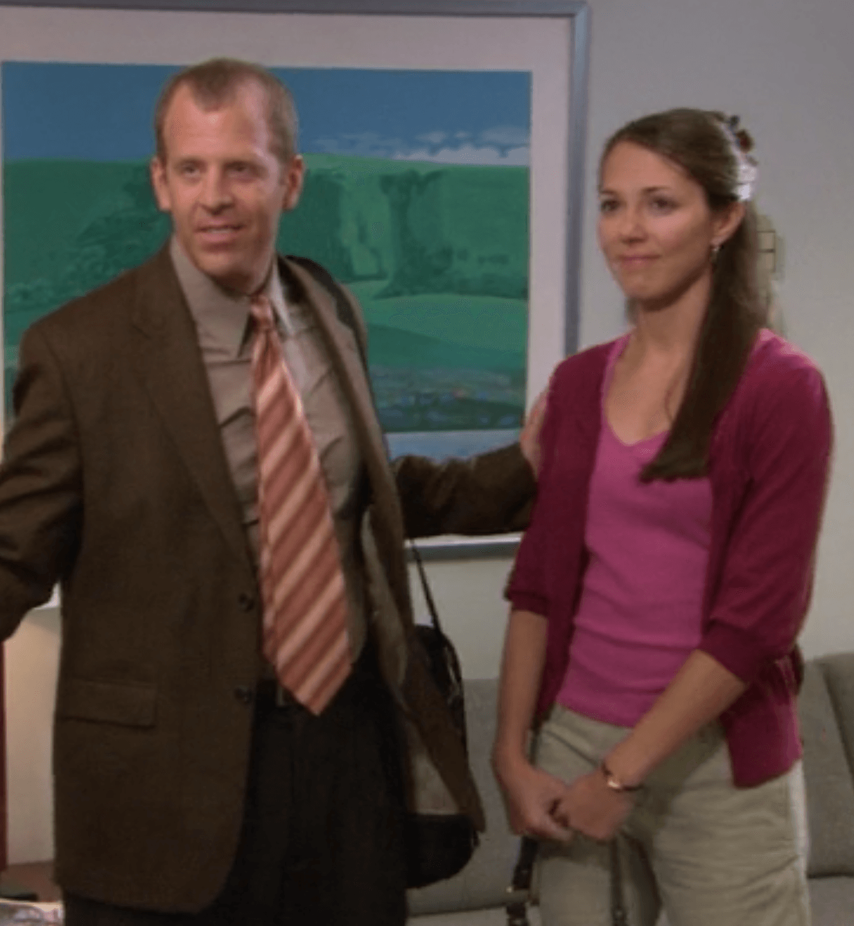 Paul Lieberstein and Janine Poreba as Toby and Amy on a 2007 episode of The Office