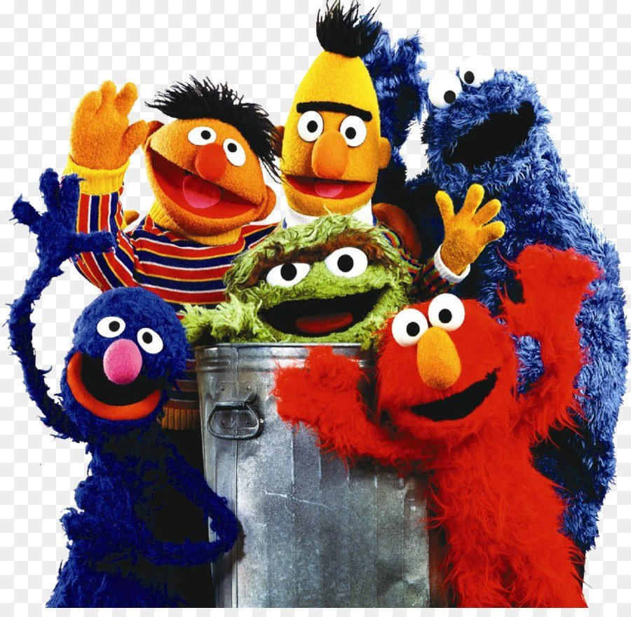 The puppets in Sesame Street