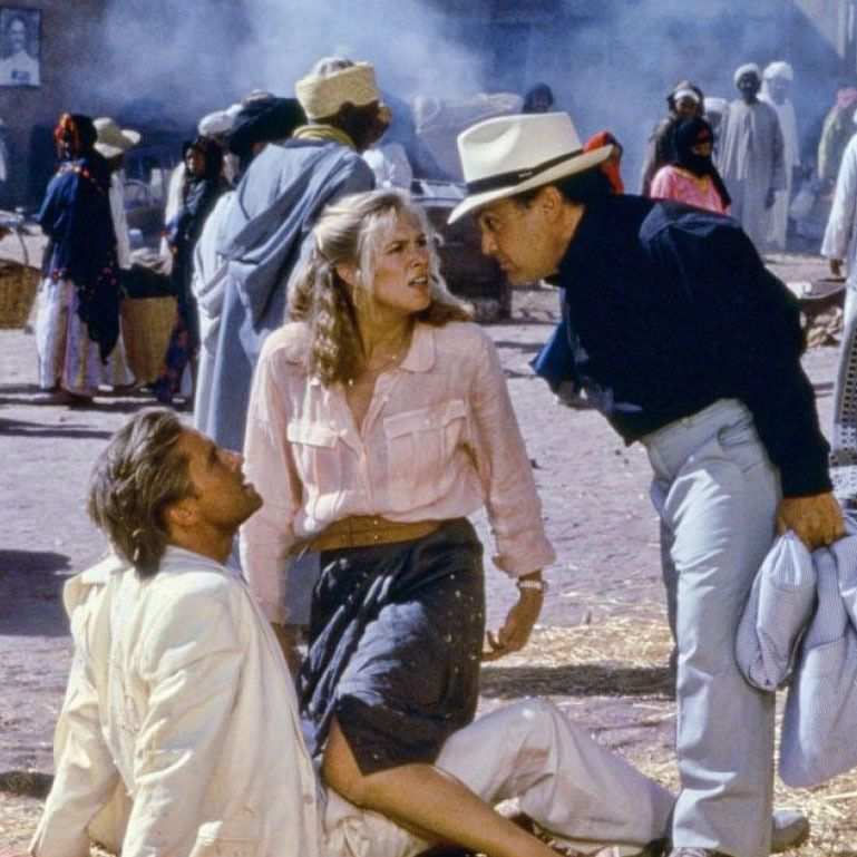 Kathleen Turner, Michael Douglas and Danny DeVito in The Jewel of the Nile