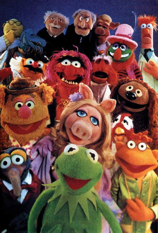 Kermit, Miss Piggy, Animal, Gonzo and the other Muppets