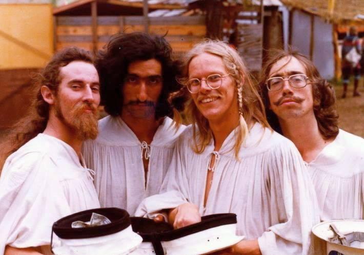 The tribesman juggling troupe, The Flying Karamazov Brothers: Arak, Barak, Karak, Sarak and Tarak.