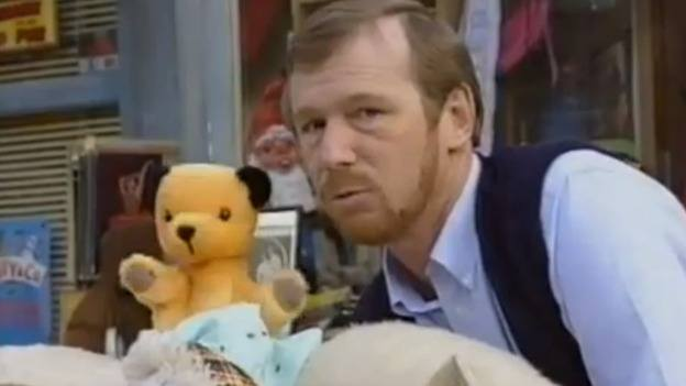 Sooty and Harry Corbett in the Sooty Show