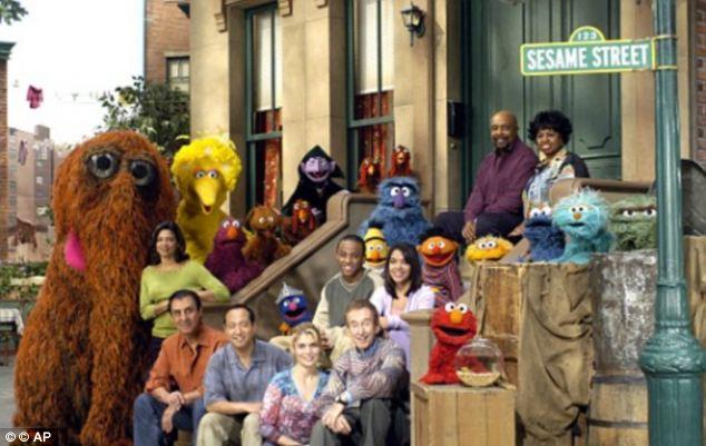 Oscar the Grouch, Big Bird and Elmo and the cast of Sesame Sweep