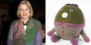 2 33 Theresa May Has Been Spotted Wearing Humpty's Skin