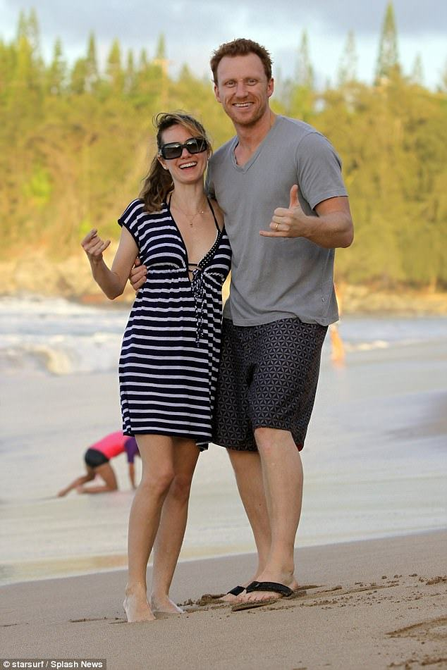 Grey's Anatomy Star Kevin McKidd with his real-life partner Arielle Goldrath