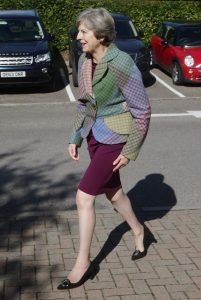 5 28 Theresa May Has Been Spotted Wearing Humpty's Skin