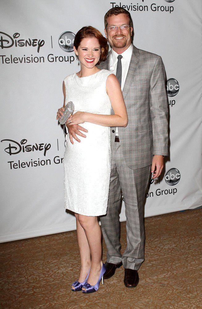 Grey's Anatomy Star Sarah Drew with her real-life partner Peter Lanfer